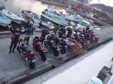 迫力のバイク10台でご来店のお客様です。